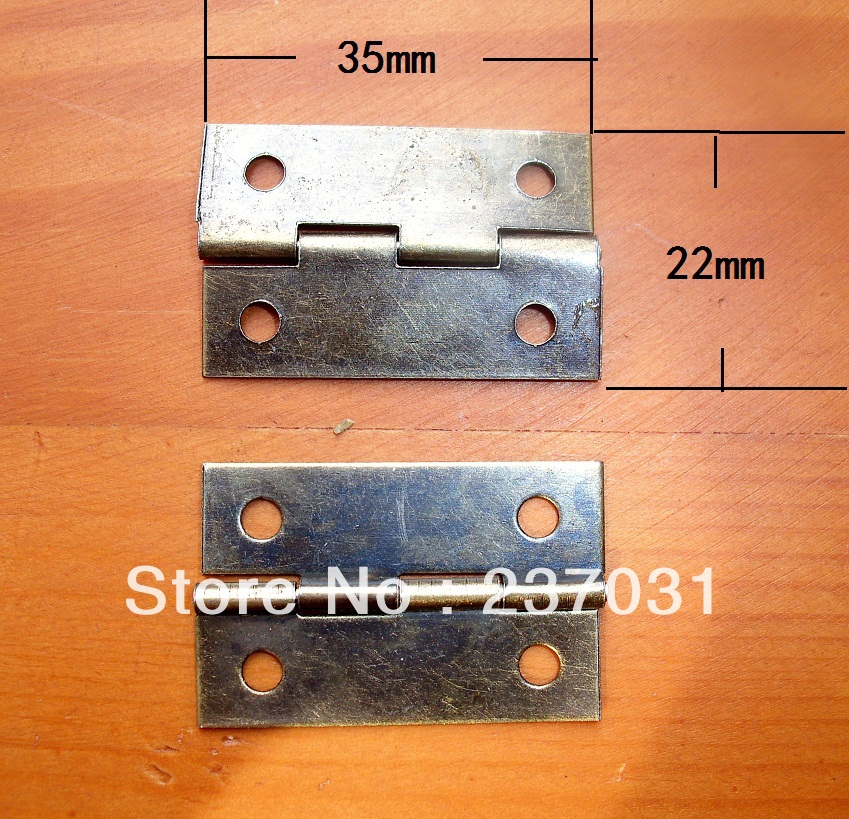 Wholesale Antique flat hinge / wooden gift box hinge / hinge connecting the fixed buckle / 1.5 inch folding small hinge(China (Mainland))