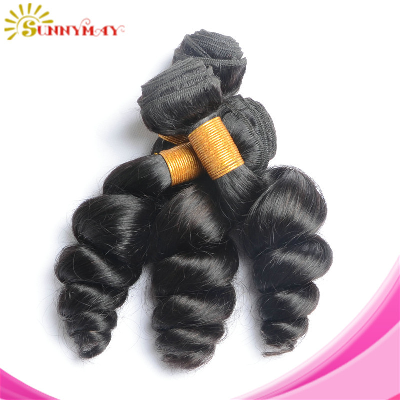 Sunnymay products Brazilian loose wave,6A Brazilian virgin hair loose wave,unprocessed virgin brazilian hair human hair weaves
