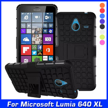 Hybrid Shock Proof Silicone + Hard Cell Phone Case Cover For Nokia Microsoft Lumia 640 XL 640XL LTE Dual SIM Case Back Cover(China (Mainland))