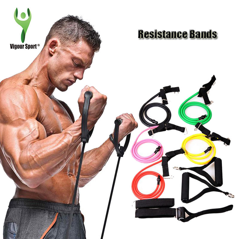 Fitness Resistance Bands Resistance Rope Exerciese Tubes Elastic Exercise Bands for Yoga Pilates Workout Lose weight gain muscle(China (Mainland))