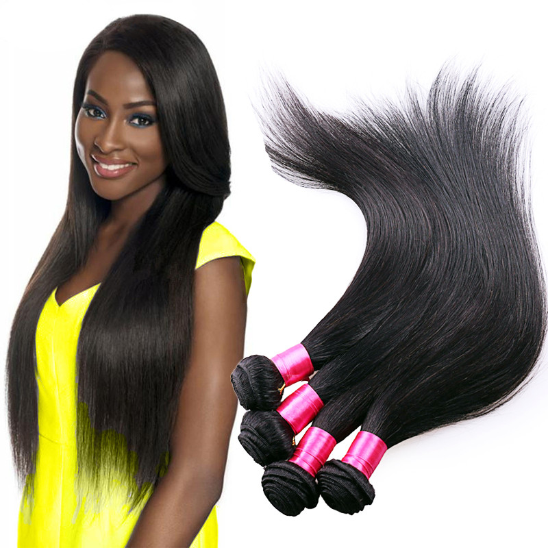 Beauty forever Malaysian straight hair Malaysian virgin hair straight 3 bundles 100% unprocessed Malaysian human hair straight