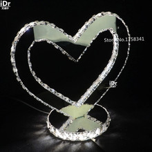 LOVE modern living room lamp warm bedroom lead crystal table lamps Bedroom lamp LED energy-saving lamps(China (Mainland))