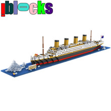 1860pcs Super Large Titanic Ship Model Building Kits Plastic Assembly Mini Bricks Minifigures Education Toys(China (Mainland))