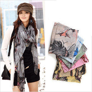 [ 9988 ] Korean autumn and winter Begonia flower cotton scarves scarf shawl increase female long winter scarves 75g(China (Mainland))