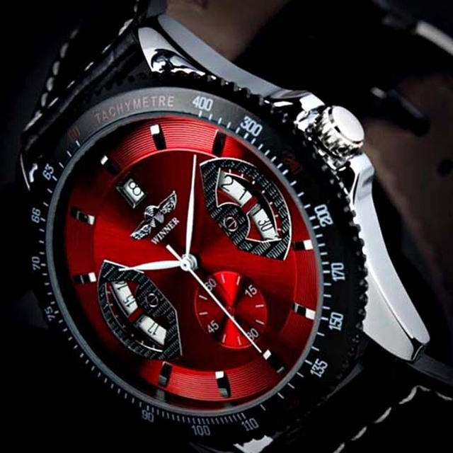 Relogio Masculino Esportivo Luxury Brand Winner Watch Men Automatic Mechanical Men Watches Fashion Sports Watches For Men