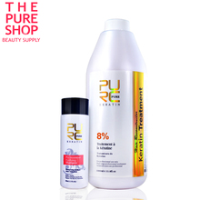 Pure keratin smoothing 8% formlain repair damaged hair and make hair smoothing and shine chocolate smell high quality(China (Mainland))