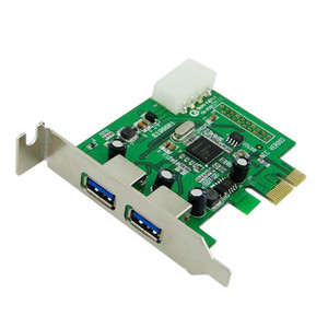 Super Speed 2 Port USB 3 0 PCI E Express Interface Card Low Profile Half Height(China (Mainland))