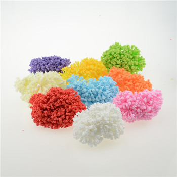 12PCS / lot 3 cm small artificial foam Starry fake flower fake party supplies wedding car decorated with handmade flowers