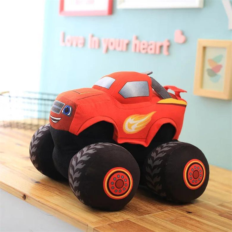 Blaze Car Trucks Model Plush Monsters Machines Racing Car Toy Mud Crusher Red Toys TL0071(China (Mainland))