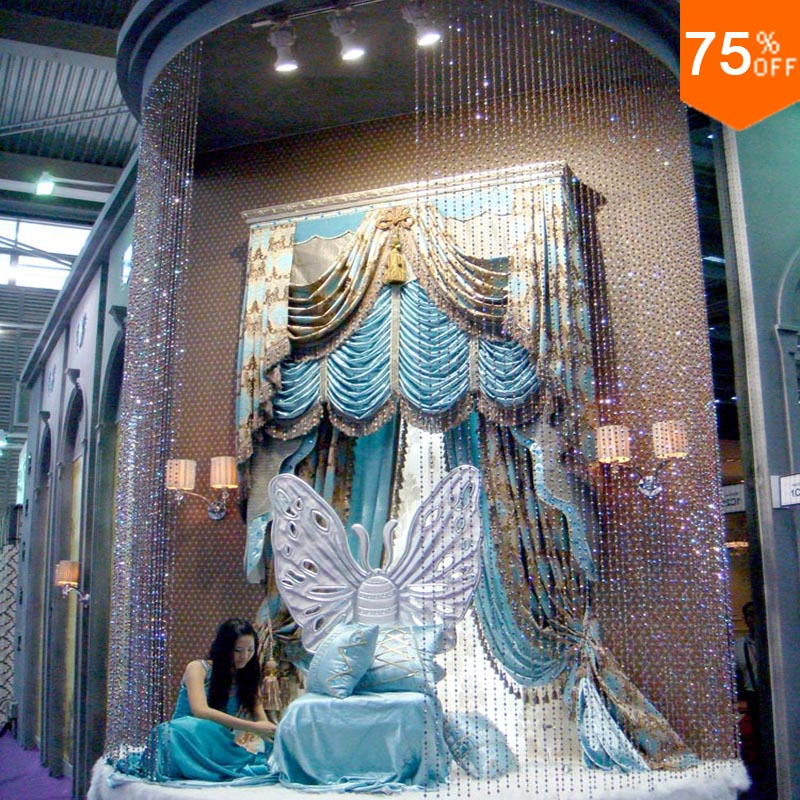 Max High villa Luxury curtains living room turquoise high window acid blue cottage 3D curtains types curtain patterns Decoration(China (Mainland))