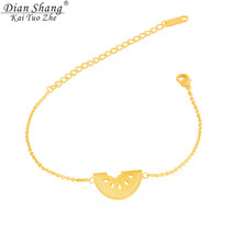 DIANSHANGKAITUOZHE Pulseras Gold Hand Chains For Men Tiny Cute Lucky Charms Watermelon Statement Famous Brand Bracelets(China (Mainland))
