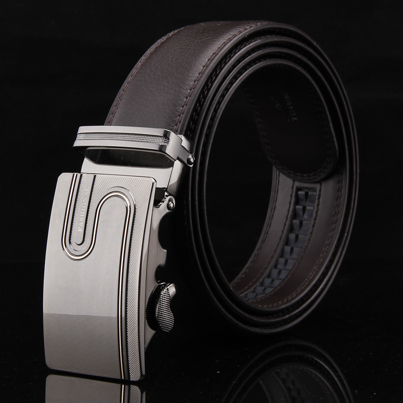 Free With Gift Box ! 2016 Brand New Classic Belts Cow Skin Genuine Cow-skin Leather Automatic Businese Belt For Boss Men Fashion(China (Mainland))