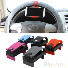 niversal Car Steering Wheel Bike Clip Mount Holder For iphone Phone Samsung GPS 2MA7
