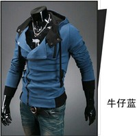Мужская толстовка Men hooded zipper fleece 2015 Xxxxl Hooded long-sleeved wool