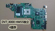 Бесплатная доставка 609787-001 для HP pavilion DV7 DV7T DV7-4000 ноутбук материнской платы с Intel hm55 чипсет 5470/512 m
