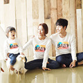 Spring Autumn Family Matching Clothing Soft Cotton Shirt Matching Father Mother Daughter Son Clothes Family Casual