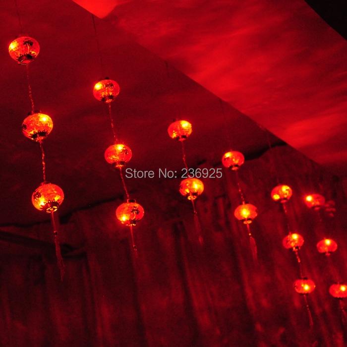 Здесь можно купить  2m Red Lantern Chinese  LED String Lights Outdoor Wedding Decorations Holiday Indoor Party Fairy Lights H-29  Свет и освещение