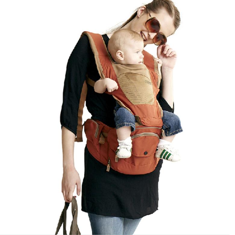 Baby Kangaroo Bag Hipseat Sling Backpack Carrying Children Mochila Ergonomica Portabebe 360 Carrier - bebear profession Store store