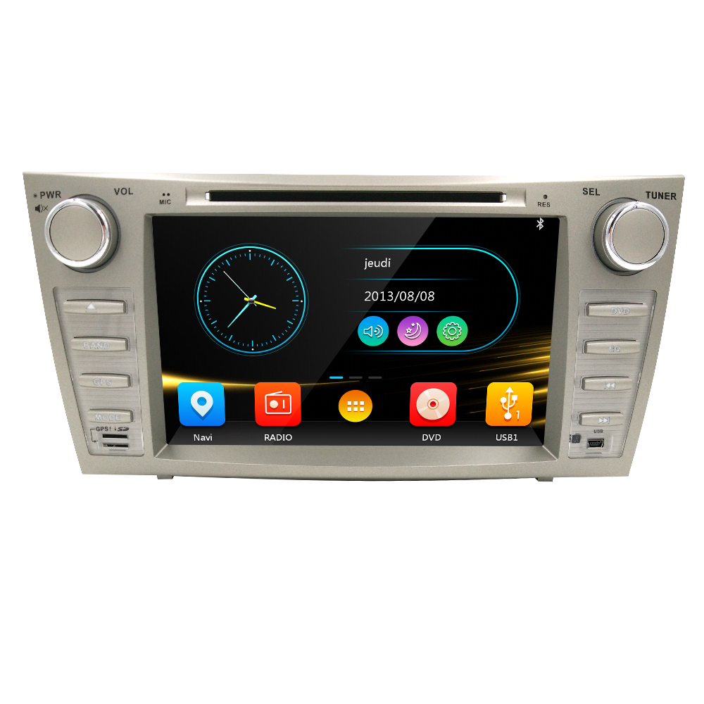 "Free Shipping 8"" Car dvd gps For TOYOTA CAMRY 2007-2011 car dvd player with GPS Radio Bluetooth SD USB,Free 8GB map card(China (Mainland))"