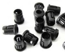 Free Shipping 100pcs 10mm Black Plastic LED Clip Holder Case Cup Mounting(China (Mainland))