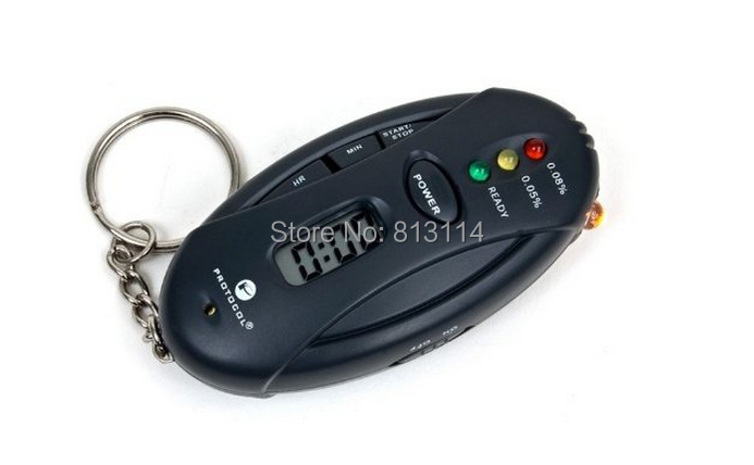 Portable Keychain Digital Alcohol Tester, Alcohol test analyzer, LED lights display the wine clear test(China (Mainland))
