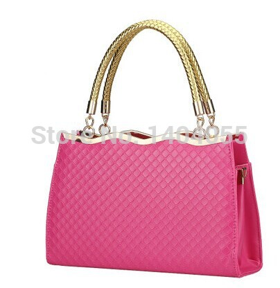 Wholesale New arrival Hot Sale fashion tide casual female temperament quilted large bag patent leather shoulder handbag(China (Mainland))
