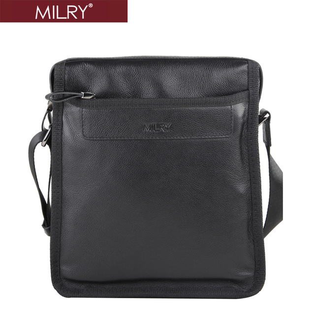 New 2104 Brand MILRY 100% Genuine Leather shoulder bag for men Messenger Bag real cow leather cross body with gift bag WCS0001