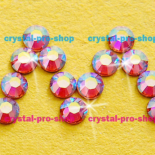 GENUINE Swarovski Elements ss8 AB Light Rose ( 223 AB ) 720 pcs. Iron on 8ss Hot-fix art facet Glass Crystal Hotfix rhinestones(Hong Kong)