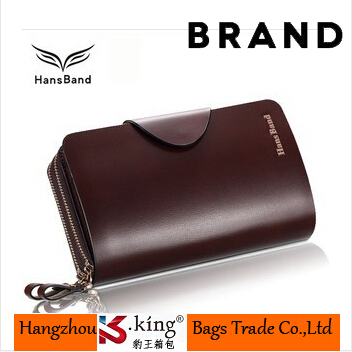 B.King Famous Brand Genuine Leather Men Business Clutch Wallets With Double Zipper High Quality Hasp Wallet Handbag , MHB009(China (Mainland))