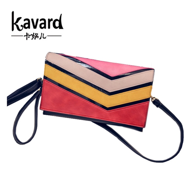2016 радуга женщины клатч кошелек сумки дизайнерские сумки высокое качество искусственная кожа конверт клатч кроссбоди сумки для женщин