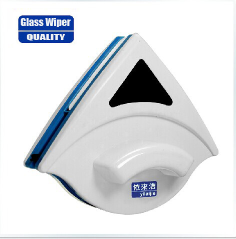 Double sided window cleaner for double glazing