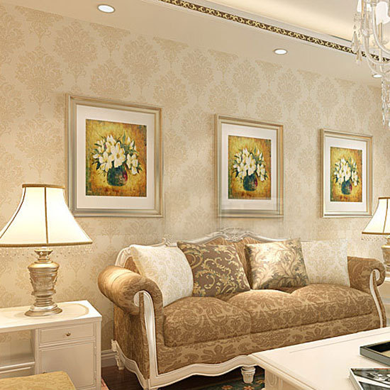 Damascus luxury European environmental non-woven wallpaper background wallpaper the living room TV sofa HA-881