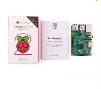 In stock 2015 New Original Raspberry Pi 2 Model B 1GB RAM 900Mhz Quad Core ARM Cortex A7 Element14 6 times faster than model B(China (Mainland))