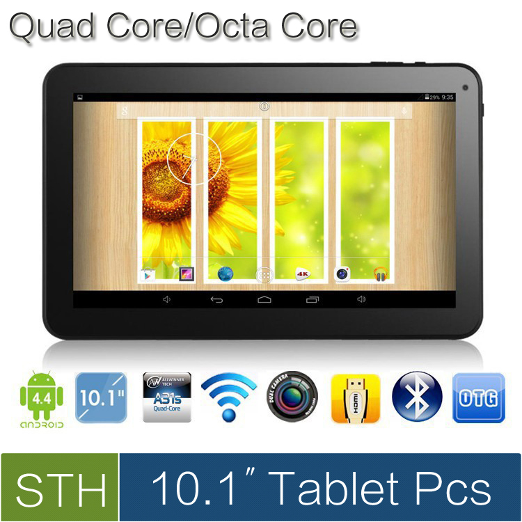 "NEW 10.1"" Android 4.4 Quad Core/Octa Core tablet pcs, Allwinner A31s/A83T tablet with Bluetooth&Capacitive Touch (8GB/16GB.32GB)(China (Mainland))"