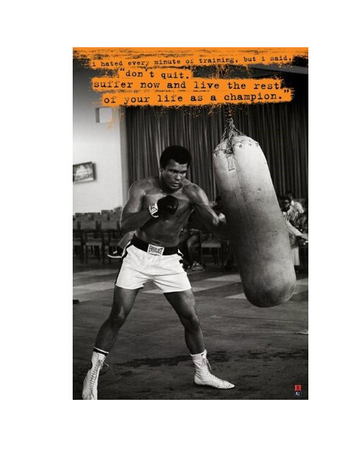 Muhammad Ali Custom Wall Paper HD Pictures and Prints poster Wall Sticker office home Decor U1-691(China (Mainland))