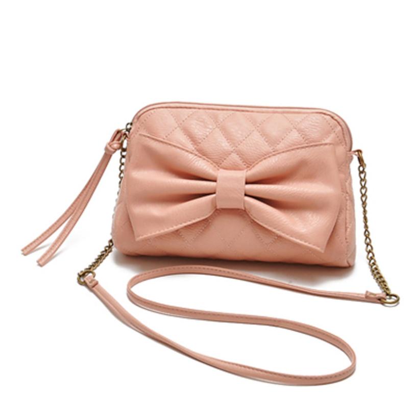 Brand new 2015 Women Bag Leather Shoulder Bowknot Satchel Body Tote Handbag(China (Mainland))