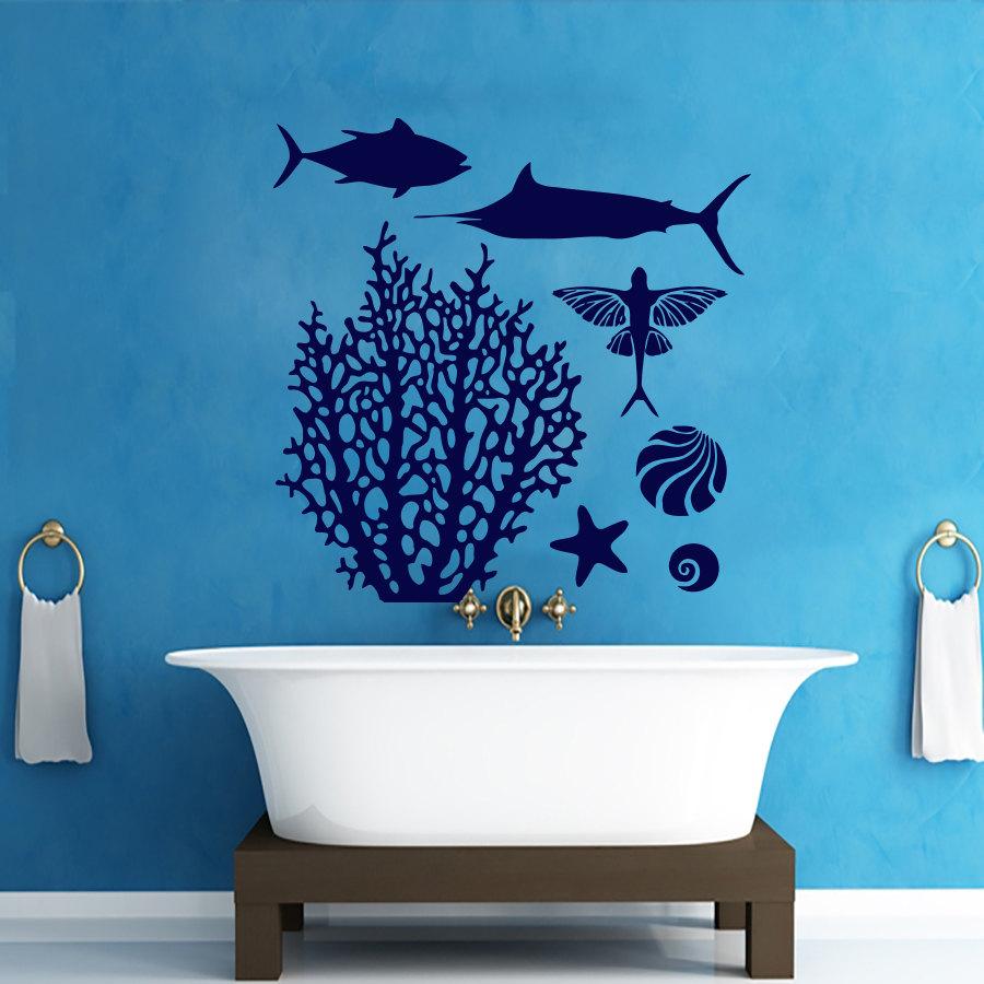 Bathroom decals for walls