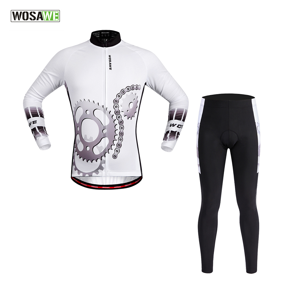 WOSAWE Men&amp;Women Long Sleeve Cycling Jersey Sets/Bike Jersey/Breathable 4D Padded Bicycle/Spring Summer Sportswear  Clothings<br><br>Aliexpress
