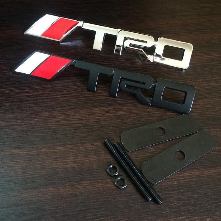 Metal Auto Front Hood Front Grilles Badge Emblems TRD For Racing Sports RAV4 CROWN REIZ COROLLA Camry Yaris VIOS highlande(China (Mainland))