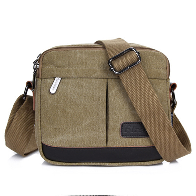 HOT! High Quality Vintage Men Messenger Bags Canvas Men Shoulder Crossbody Bags For Man Travel Bag Small Bag Casual School Bags