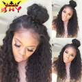 2016 Hot sale ombre glueless blonde kinky curly  full lace wig human hair 27 color kinky curly  lace front wig for fashion women
