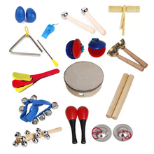Orff instruments kits children percussion 14 musical instruments(China (Mainland))