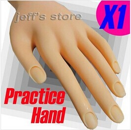 Soft Plastic Flectional Model Hand Nail Art Practice Movable Painting - Rose's Heart store