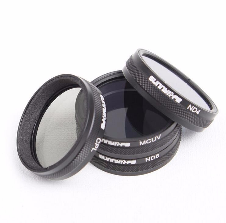 DJI Phantom 3 Phantom 4 Accessories ND4 / ND8 / MCUV / CPL Lens Filter fr Phantom 4 Phantom 3 Professional & Advanced & Standard