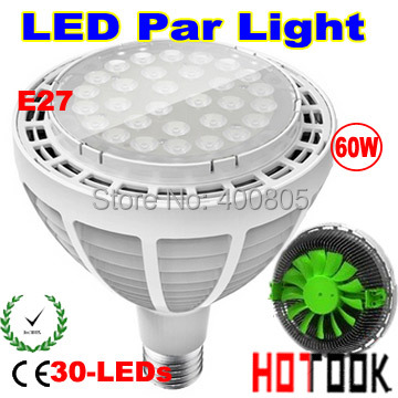 buy led par38 60w led spotlight par 38 e27 spot light lamp bulb with fan for. Black Bedroom Furniture Sets. Home Design Ideas