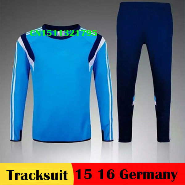 Top A+++ thai quality Germany 2016 training soccer tracksuits survetement football 15 16 Germany training pant Maillot  uniform(China (Mainland))