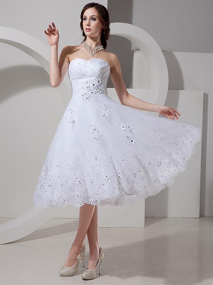 Compra vestidos de novia corto informal online al por