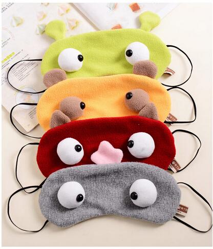 1 PCS HOT SALE Unisex Cartoon Funny Portable Soft Travel Sleep Rest Aid Eye Mask Cover Sleeping Eye Mask(China (Mainland))