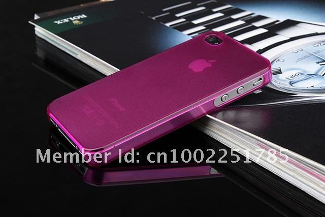 50Pcs/Lot!! DHL Freeshipping!!! 0.5mm Ultra-Slim case for iPhone4/4s case with retail package top quality