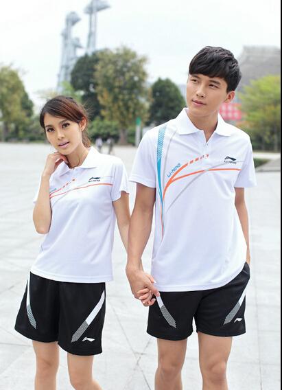 2015 new table tennis clothes / badminton sport suit shirt + shorts(China (Mainland))